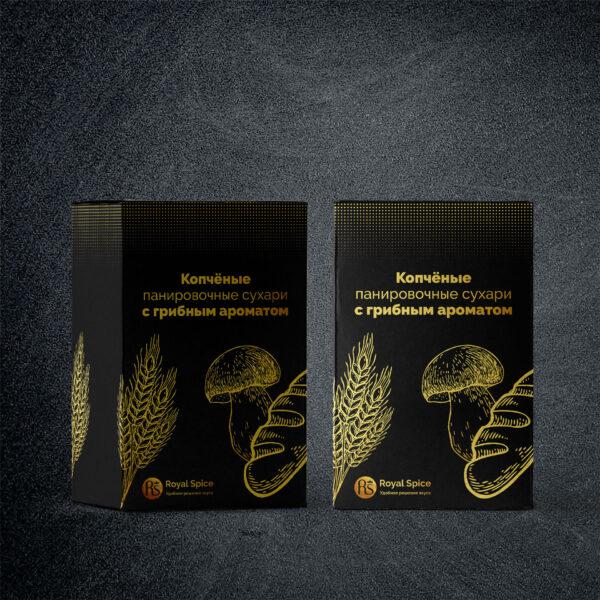 Копчёные панировочные сухари с грибным ароматом